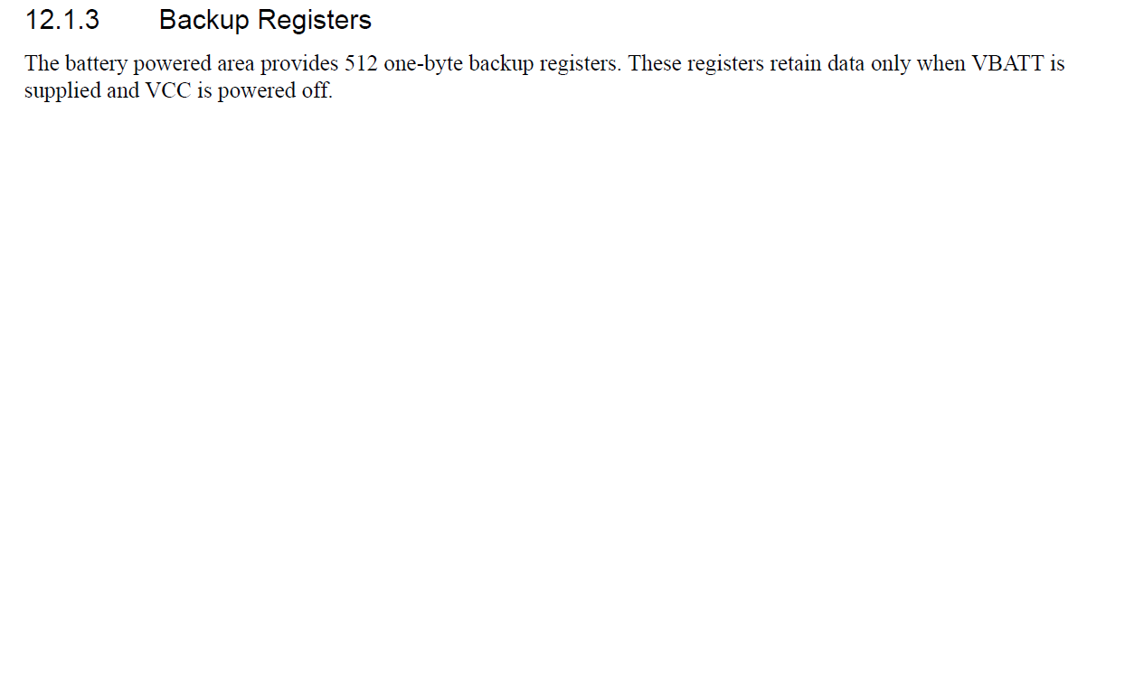 S7g2 Writing To Internal Data Flash During Power Off Synergy Example Of A Recommended Application Circuit For Rtc Backup How Can I Access The Below Mentioned Vbat Register Area Using Apis Storing