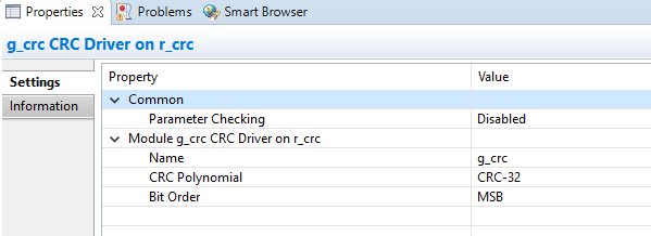 CRC calculation toolchain not matching HAL - Synergy - Forum