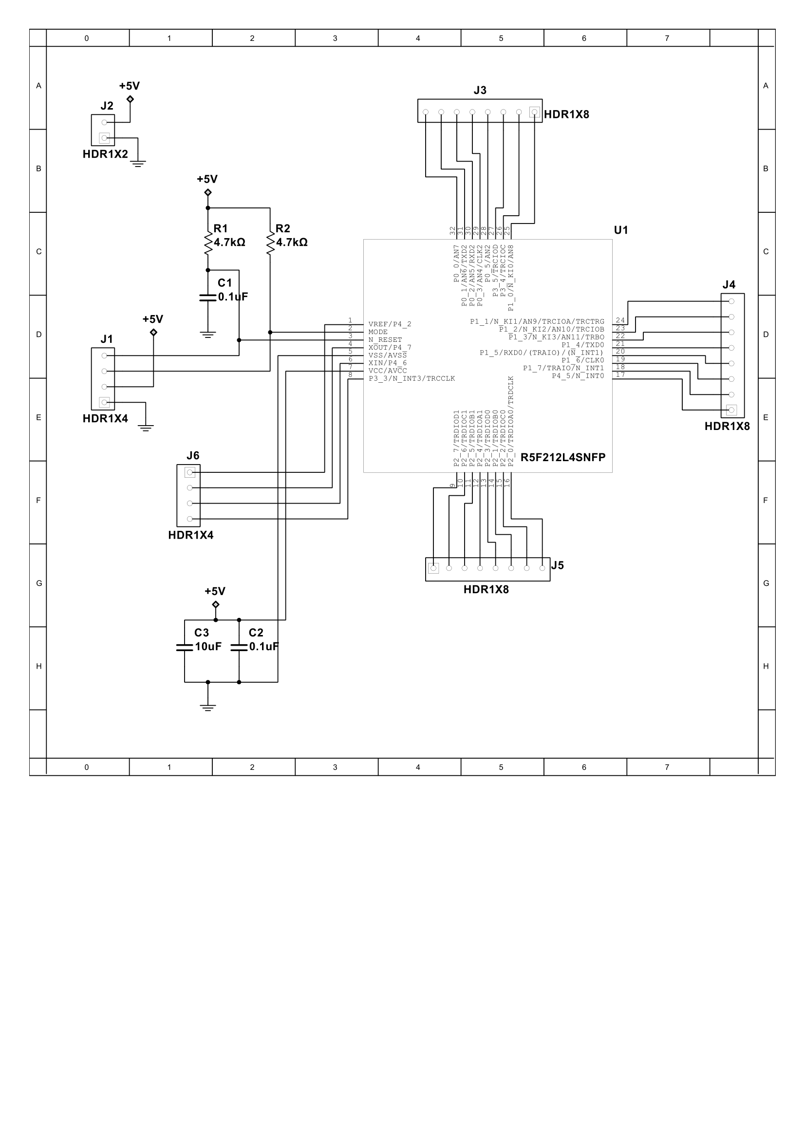 minimum  breakout circuit for r5f212l4snfp  tiny