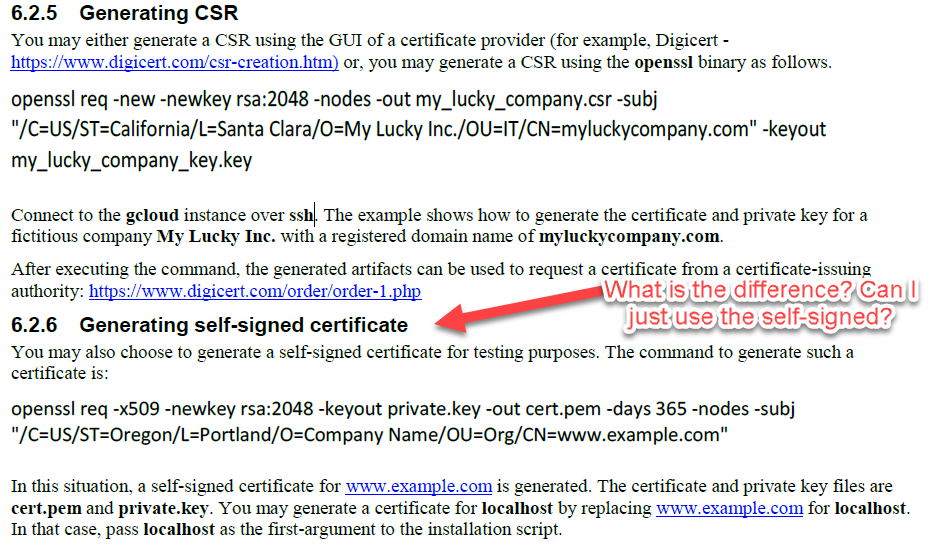 Difference Between Self Signed Csr And Digicert Csr Synergy